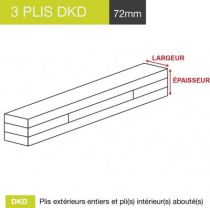 carrelet 3 plis dkd 72mm