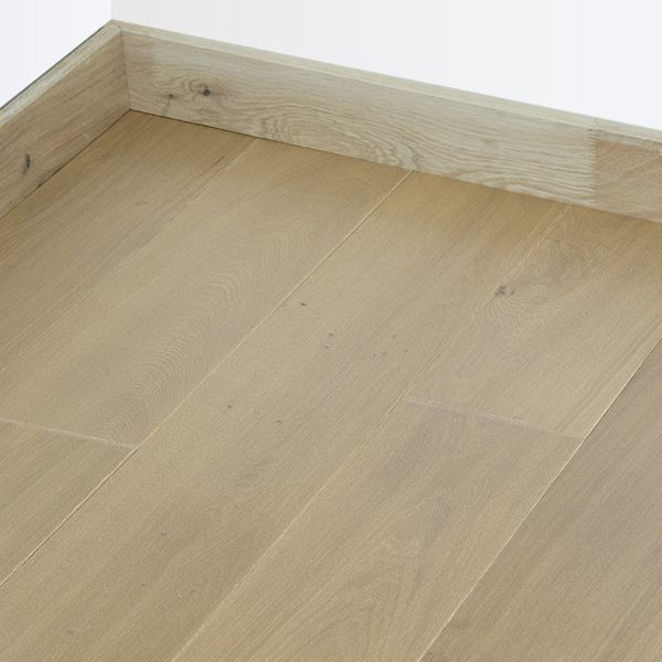 Parquet ch ne massif fran ais huil finition marron fum 22mm for Parquet vitrifie ou huile