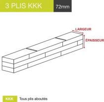 carrelet 3 plis kkk a72mm