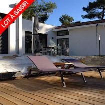 Lot de 20m2 Lame de terrasse Thermo chauffé Frêne 125x21mm