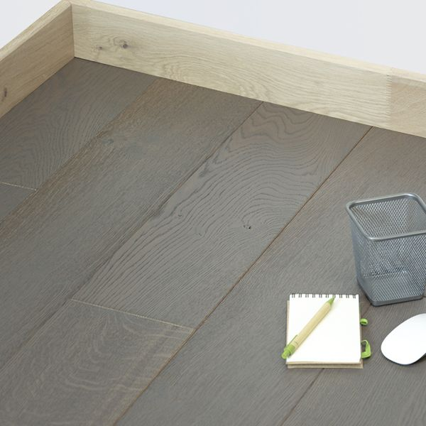 parquet ch ne massif fran ais huil finition gris moyen 22mm. Black Bedroom Furniture Sets. Home Design Ideas
